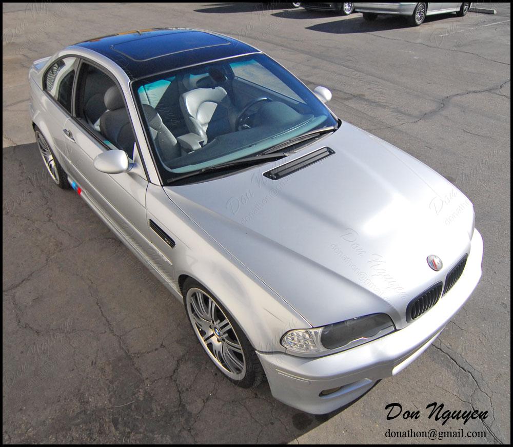 BMW E46 M3 Coupe - Gloss Black Roof Vinyl Wrap