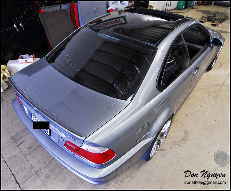 BMW M3 E46 Coupe - Gloss Black Roof Vinyl Car Wrap