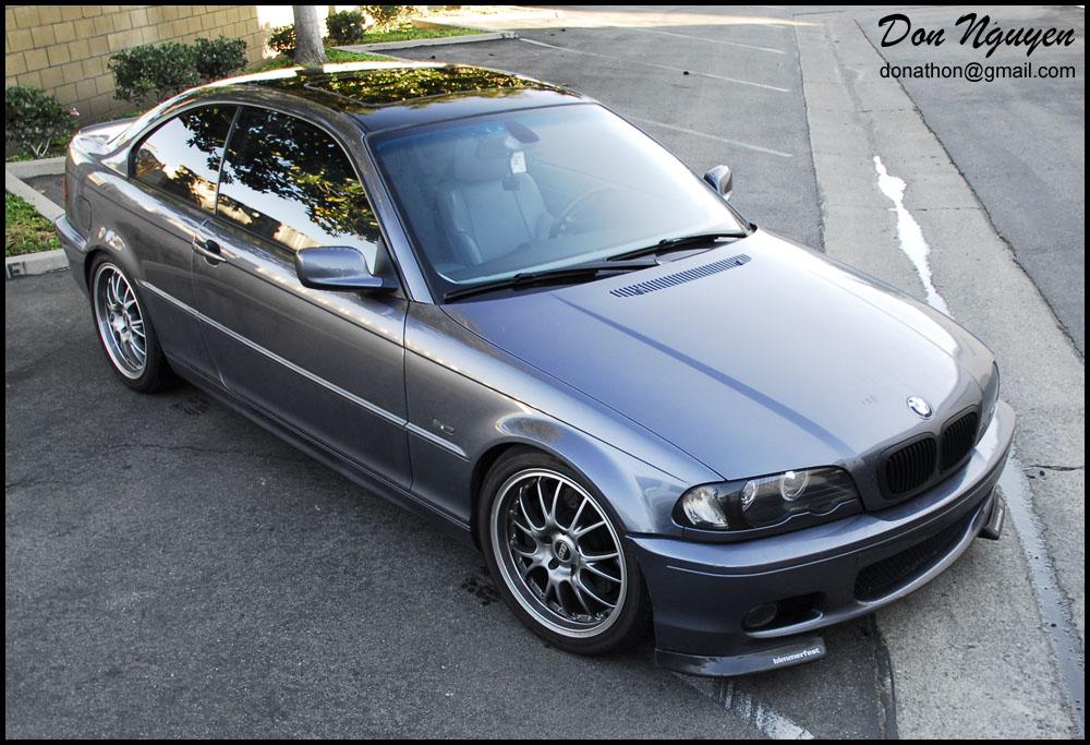 BMW 330i E46 Coupe - Gloss Black Roof Vinyl Car Wrap