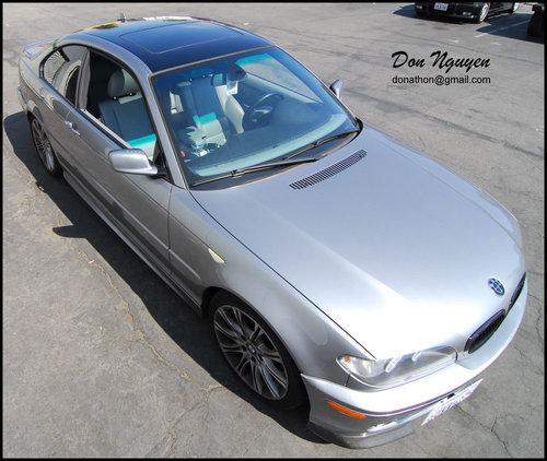 BMW E46 330i Coupe - Gloss Black Roof Vinyl Car Wrap