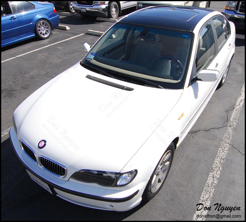 BMW 325i E46 Coupe - Gloss Black Roof Vinyl Car Wrap
