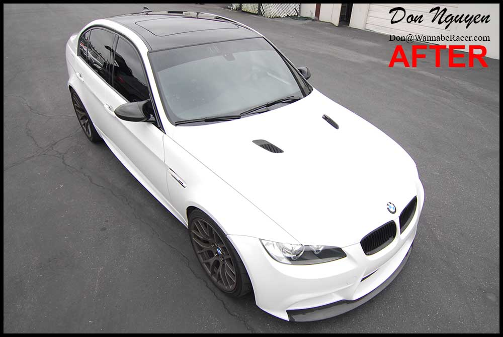BMW E90 M3 Sedan - Gloss Black Vinyl Roof Car Wrap