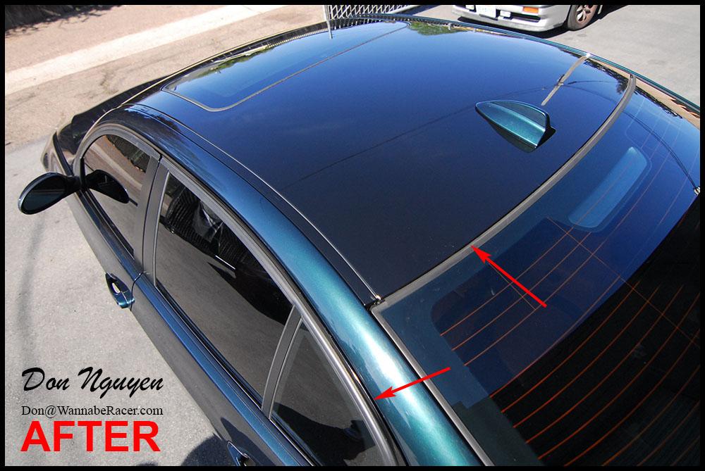 BMW E92 328i Sedan - Gloss Black Vinyl Roof Car Wrap