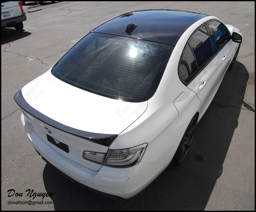 BMW 550i F10 Sedan - Gloss Black Roof Vinyl Car Wrap