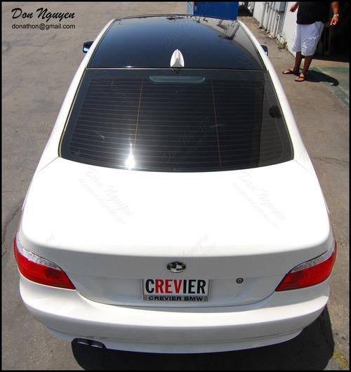 BMW 528i E60 Sedan - Gloss Black Roof Vinyl Car Wrap