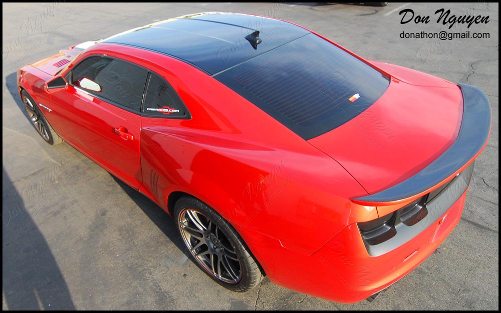 Chevrolet Camaro SS - Gloss Black Roof Vinyl Car Wrap