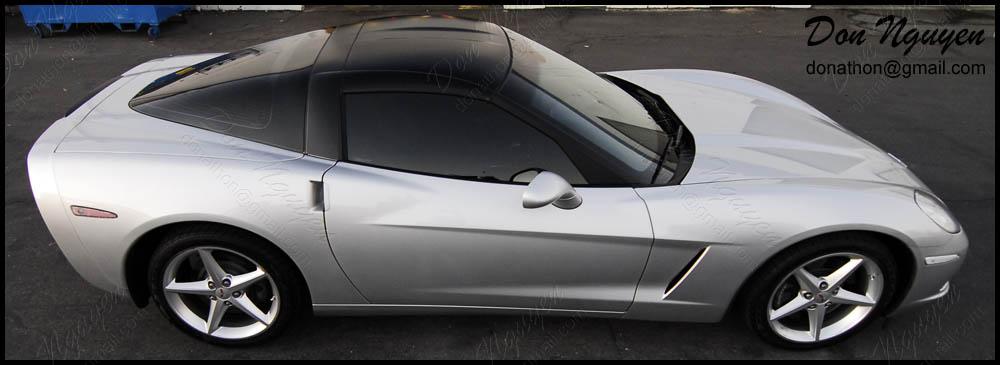 Chevy Corvette C6 - Matte Black Roof Vinyl Car Wrap