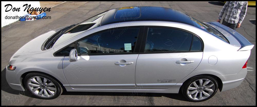 Honda Civic SI Sedan - Matte Black Roof Vinyl Car Wrap