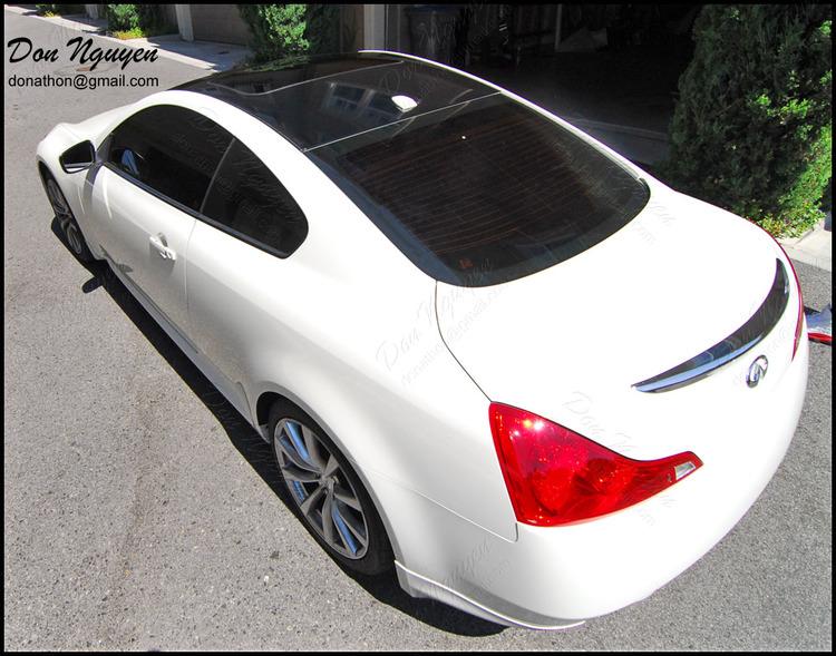Infiniti G37 Coupe - Gloss Black Roof Vinyl Car Wrap