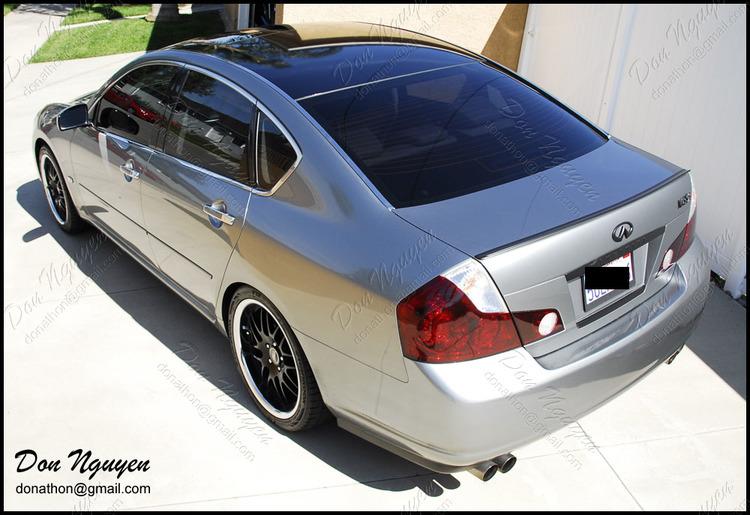 Infiniti M35 S Sedan - Gloss Black Vinyl Roof Car Wrap