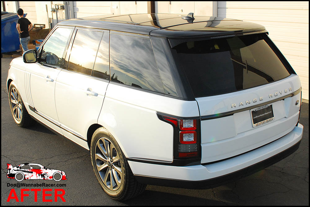 Land Rover Range Rover - Gloss Black Roof Vinyl Car Wrap