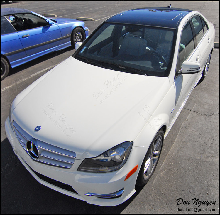 Mercedes Benz C250 Sedan - Gloss Black Roof Vinyl Car Wrap