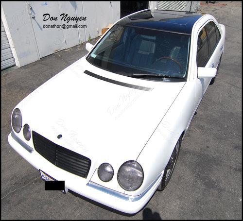 Mercedes Benz E500 Sedan - Gloss Black Roof Vinyl Car Wrap