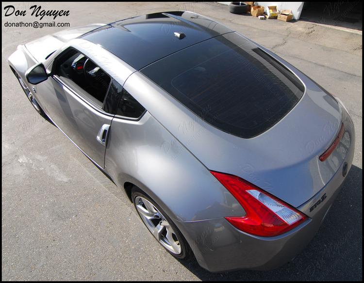 Nissan 370z Coupe - Gloss Black Roof Vinyl Car Wrap