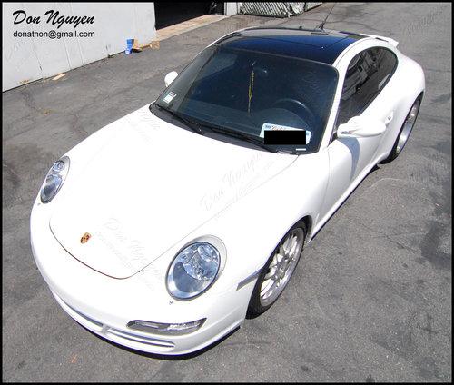 Porsche Carrera 2 Coupe - Gloss Black Vinyl Roof Car Wrap