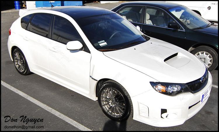 Subaru WRX Hatchback - Matte Black Roof Vinyl Car Wrap