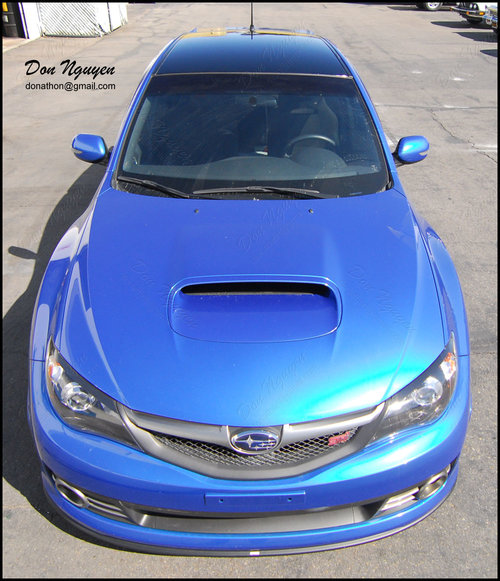 Subaru STI WRX Hatchback - Gloss Black Roof Vinyl Car Wrap