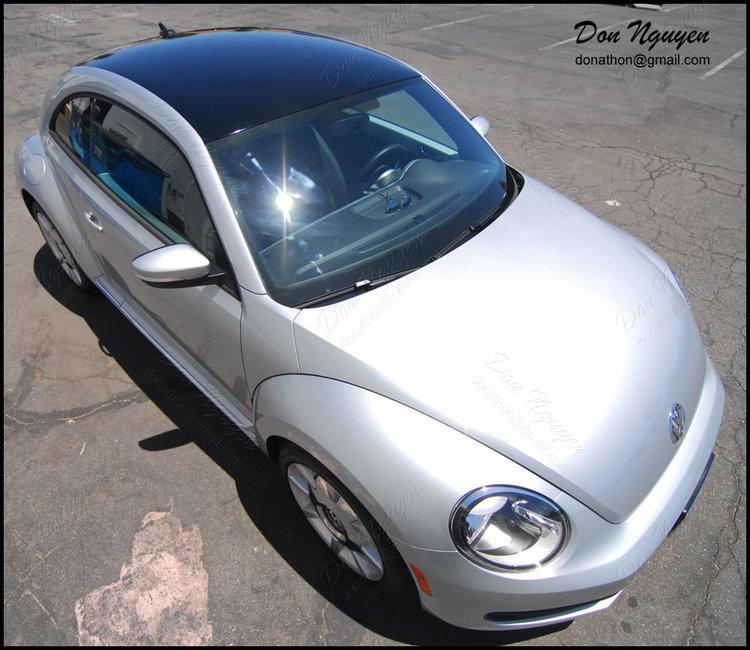 VW Bug Coupe - Gloss Black Roof Vinyl Car Wrap