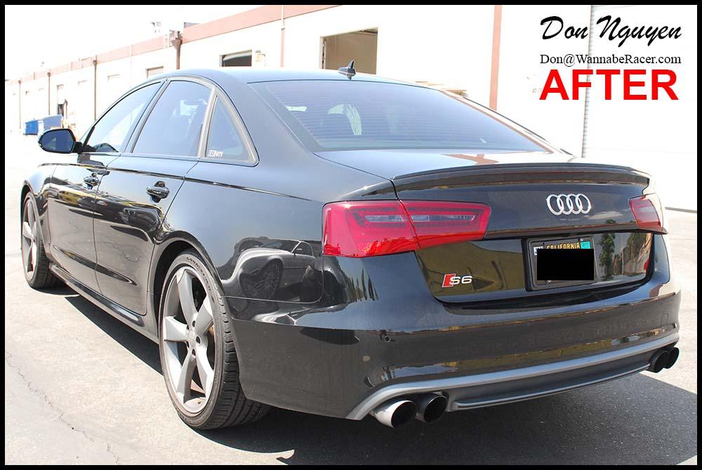 Audi S6 Sedan - Tinted / Smoked Tail Lights Vinyl Car Wrap