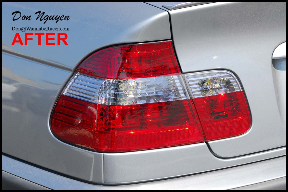 BMW E46 330i ZHP Sedan - Tinted / Smoked Tail Lights Vinyl Car Wrap