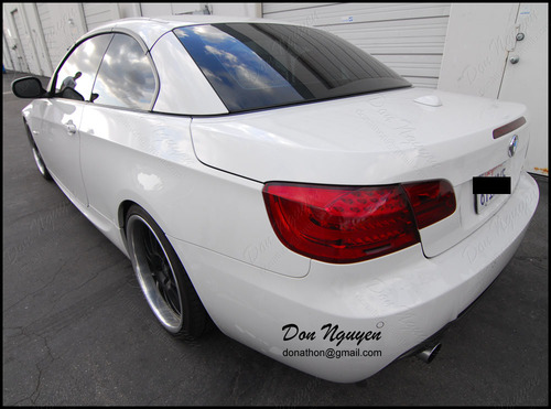 BMW 335i E93 Convertible - Tinted / Smoked Tail Lights Vinyl Car Wrap