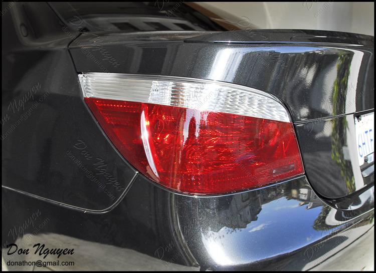 BMW E60 M5 Sedan - Tinted / Smoked Tail Lights Car Wrap