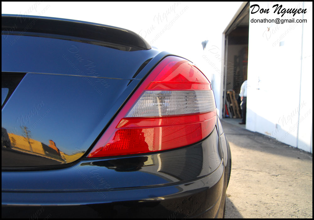 Mercedes SLK 250 Roadster - Tinted / Smoked Tail Lights Vinyl Car Wrap
