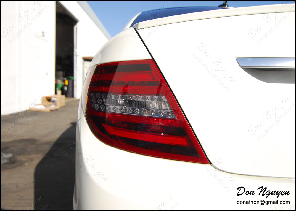Mercedes Benz C250 Sedan - Tinted / Smoked Tail Lights Vinyl Car Wrap