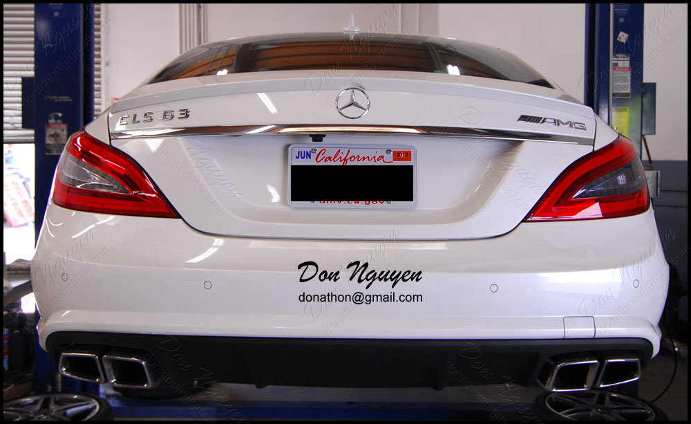 Mercedes Benz CLS63 AMG Sedan - Tinted / Smoked Tail Lights Vinyl Car Wrap