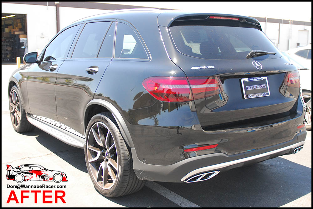 Mercedes Benz GLC 43 AMG SUV - Tinted / Smoked Rear Tail Lights Vinyl Car Wrap