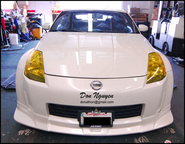 Nissan 350z Coupe - Tinted Yellow Head Lights