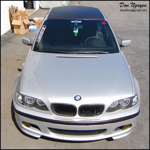 BMW 330i ZHP Sedan - Matte Carbon Fiber Roof Vinyl Car Wrap