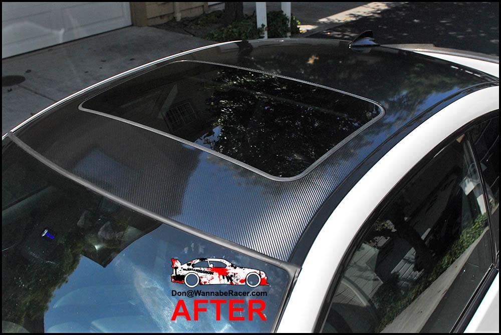 BMW E92 335is Coupe - 5D High Gloss Carbon Fiber Vinyl Roof Wrap