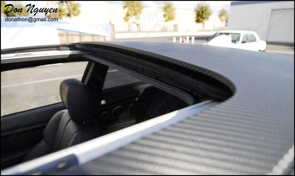 BMW M3 E92 Coupe - Matte Carbon Fiber Roof Vinyl Car Wrap