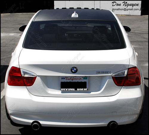 BMW 335i E90 Sedan - Matte Carbon Fiber Roof Vinyl Car Wrap