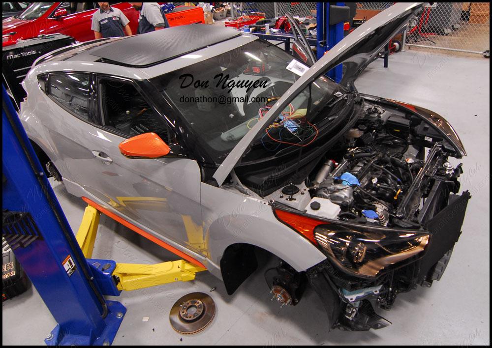 Hyundai Veloster Coupe SEMA Build - 3M Di-noc Matte Carbon Fiber Roof Vinyl Car Wrap