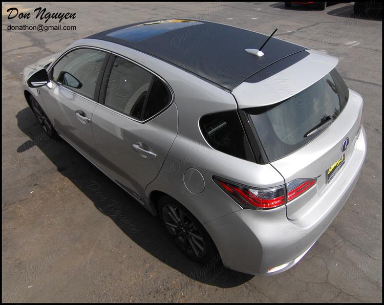 Lexus CT200h Wagon - Matte Carbon Fiber Roof Vinyl Car Wrap