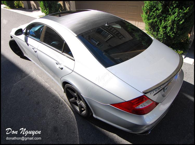 Mercedes Benz CLS63 AMG Sedan - Gloss Carbon Fiber Roof Vinyl Car Wrap