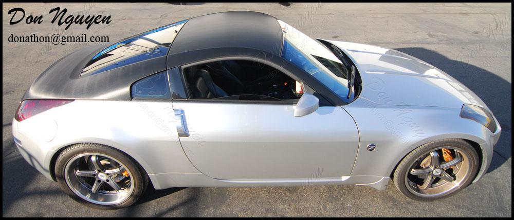 Nissan 350z Coupe - 3M Gloss Carbon Fiber Top Half Vinyl Car Wrap