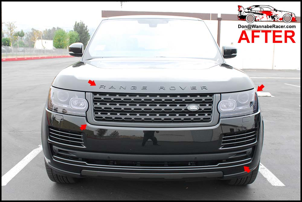 Land Rover Range Rover HSE - Gloss Black Trim Vinyl Car Wrap & Plasti Dip Badges and Grill