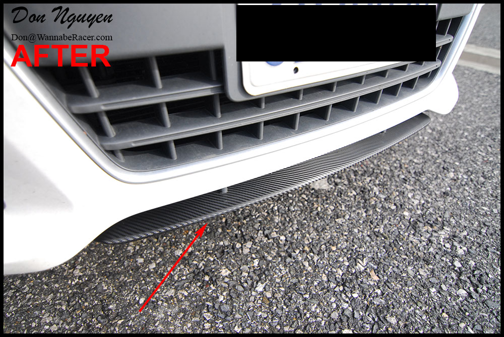 Audi TT Gloss Carbon Fiber Front and Rear Diffuser Car Wrap