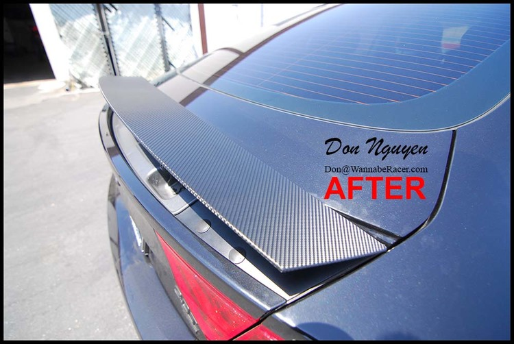 Audi A7 Sedan - 3M Gloss Carbon Fiber Spoiler and Rear Diffuser Vinyl Car Wrap