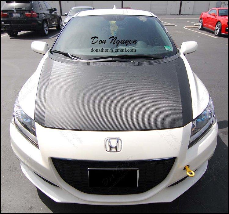 Honda CRZ Coupe - 3M Di-noc Matte Carbon Fiber Hood Vinyl Wrap