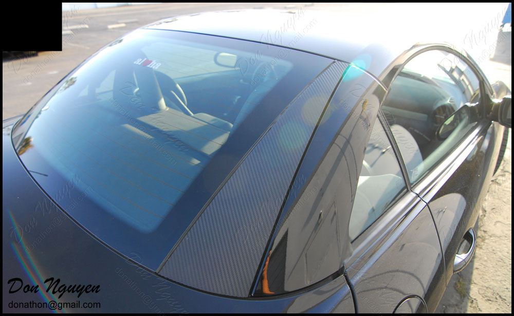 Mercedes SLK 250 Roadster - Matte Carbon Fiber Trim Vinyl Car Wrap
