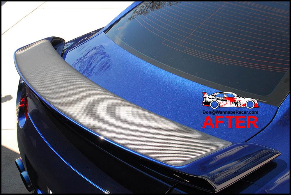 Nissan R35 GTR - Matte Carbon Fiber Rear Spoiler Vinyl Car Wrap