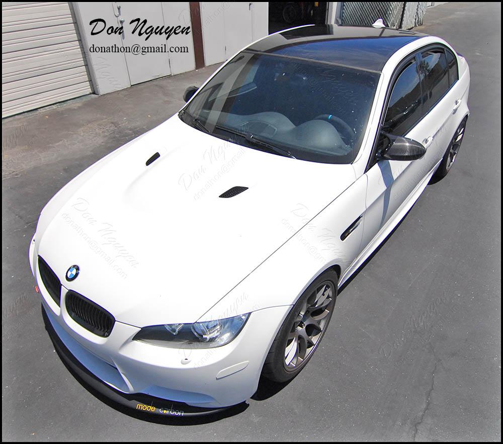 BMW E90 M3 Sedan - Gloss Black Vinyl Roof Wrap