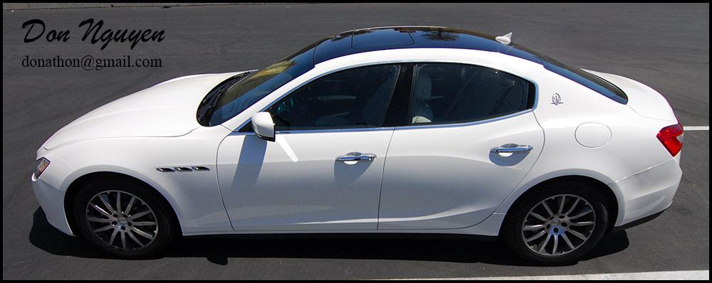Maserati Ghibli Sedan - Gloss Black Vinyl Roof Wrap