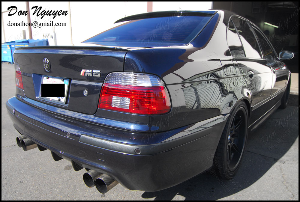 BMW E39 M5 Sedan - Tinted Tail Lights Vinyl Wrap