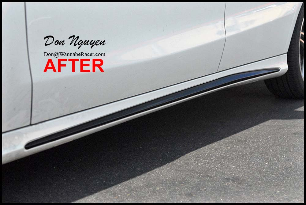 Mercedes CLA 250 Sedan - Gloss Black Roof, Side Skirts, & Window Trim Vinyl Car Wrap