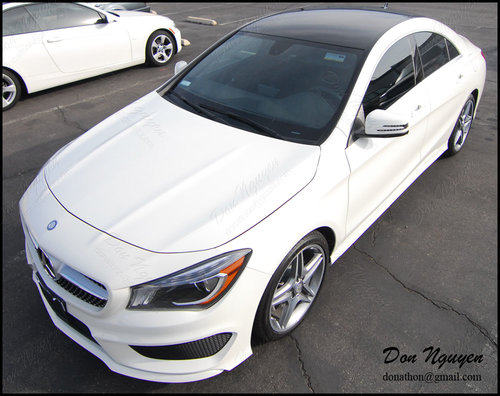Mercedes Benz CLA 250 Sedan - Gloss Black Roof Vinyl Car Wrap